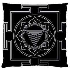 Kali Yantra Inverted Large Flano Cushion Case (one Side) by Mariart