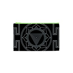 Kali Yantra Inverted Cosmetic Bag (xs) by Mariart