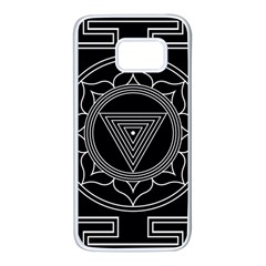 Kali Yantra Inverted Samsung Galaxy S7 White Seamless Case by Mariart