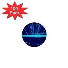 Grid Structure Blue Line 1  Mini Buttons (100 Pack)  by Mariart