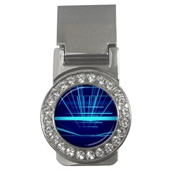 Grid Structure Blue Line Money Clips (cz)  by Mariart