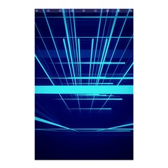 Grid Structure Blue Line Shower Curtain 48  X 72  (small)  by Mariart
