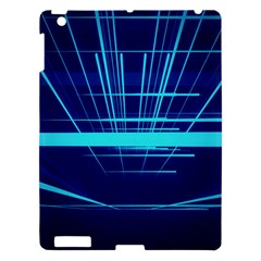 Grid Structure Blue Line Apple Ipad 3/4 Hardshell Case by Mariart