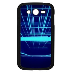 Grid Structure Blue Line Samsung Galaxy Grand Duos I9082 Case (black) by Mariart
