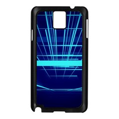 Grid Structure Blue Line Samsung Galaxy Note 3 N9005 Case (black)