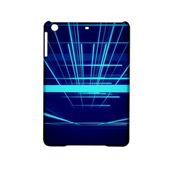 Grid Structure Blue Line Ipad Mini 2 Hardshell Cases by Mariart