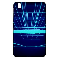 Grid Structure Blue Line Samsung Galaxy Tab Pro 8 4 Hardshell Case by Mariart