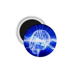 Lightning Brain Blue 1 75  Magnets by Mariart