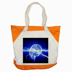 Lightning Brain Blue Accent Tote Bag by Mariart