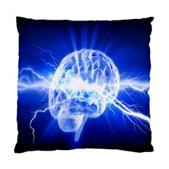 Lightning Brain Blue Standard Cushion Case (two Sides) by Mariart