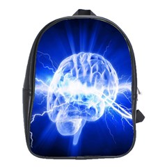 Lightning Brain Blue School Bag (large)