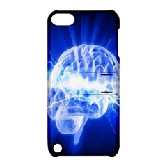 Lightning Brain Blue Apple Ipod Touch 5 Hardshell Case With Stand by Mariart