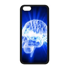Lightning Brain Blue Apple Iphone 5c Seamless Case (black)