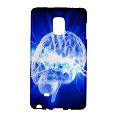 Lightning Brain Blue Galaxy Note Edge by Mariart