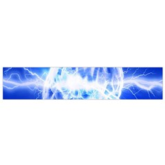 Lightning Brain Blue Flano Scarf (small) by Mariart