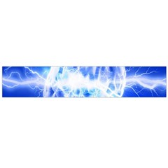 Lightning Brain Blue Flano Scarf (large) by Mariart