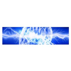 Lightning Brain Blue Satin Scarf (oblong) by Mariart