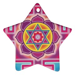 Kali Yantra Inverted Rainbow Ornament (star) by Mariart