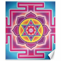 Kali Yantra Inverted Rainbow Canvas 20  X 24   by Mariart