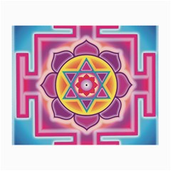Kali Yantra Inverted Rainbow Small Glasses Cloth (2-side) by Mariart