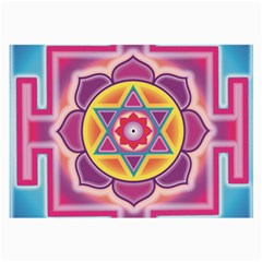 Kali Yantra Inverted Rainbow Large Glasses Cloth by Mariart