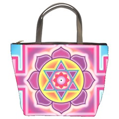 Kali Yantra Inverted Rainbow Bucket Bags