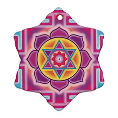 Kali Yantra Inverted Rainbow Ornament (snowflake) by Mariart