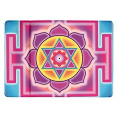 Kali Yantra Inverted Rainbow Samsung Galaxy Tab 10 1  P7500 Flip Case