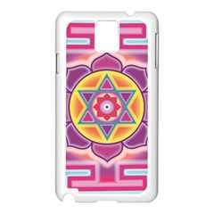Kali Yantra Inverted Rainbow Samsung Galaxy Note 3 N9005 Case (white)