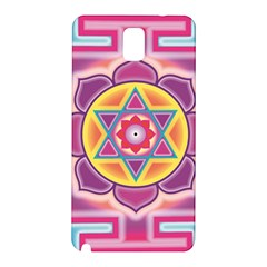 Kali Yantra Inverted Rainbow Samsung Galaxy Note 3 N9005 Hardshell Back Case by Mariart