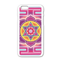 Kali Yantra Inverted Rainbow Apple Iphone 6/6s White Enamel Case by Mariart