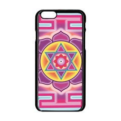 Kali Yantra Inverted Rainbow Apple Iphone 6/6s Black Enamel Case by Mariart