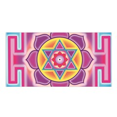 Kali Yantra Inverted Rainbow Satin Shawl by Mariart