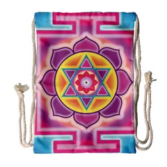 Kali Yantra Inverted Rainbow Drawstring Bag (large) by Mariart