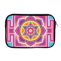 Kali Yantra Inverted Rainbow Apple Macbook Pro 17  Zipper Case by Mariart