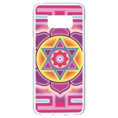 Kali Yantra Inverted Rainbow Samsung Galaxy S8 White Seamless Case by Mariart