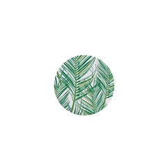 Jungle Fever Green Leaves 1  Mini Buttons by Mariart