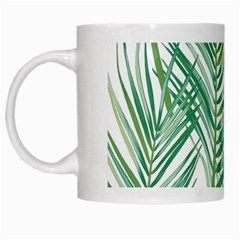 Jungle Fever Green Leaves White Mugs by Mariart
