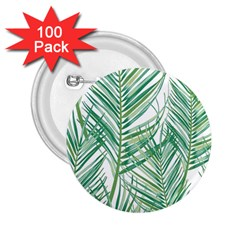 Jungle Fever Green Leaves 2 25  Buttons (100 Pack)