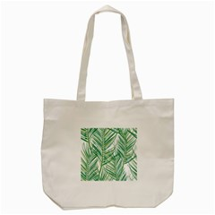 Jungle Fever Green Leaves Tote Bag (cream) by Mariart