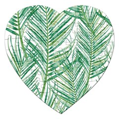 Jungle Fever Green Leaves Jigsaw Puzzle (heart) by Mariart