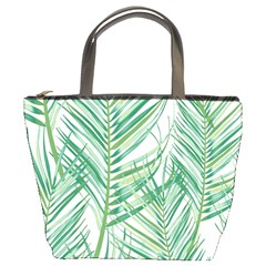 Jungle Fever Green Leaves Bucket Bags by Mariart