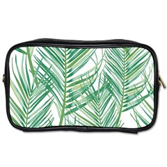 Jungle Fever Green Leaves Toiletries Bags 2 Side by Mariart