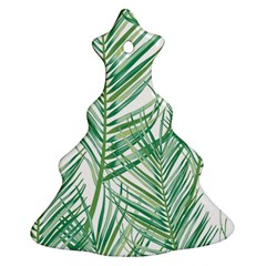 Jungle Fever Green Leaves Ornament (christmas Tree)  by Mariart