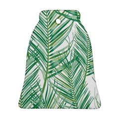 Jungle Fever Green Leaves Ornament (bell) by Mariart