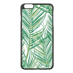 Jungle Fever Green Leaves Apple Iphone 6 Plus/6s Plus Black Enamel Case by Mariart