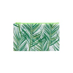 Jungle Fever Green Leaves Cosmetic Bag (xs) by Mariart