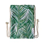 Jungle Fever Green Leaves Drawstring Bag (Small) Front