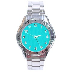 Line Blue Stainless Steel Analogue Watch by Mariart