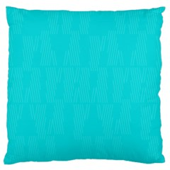 Line Blue Large Cushion Case (two Sides)